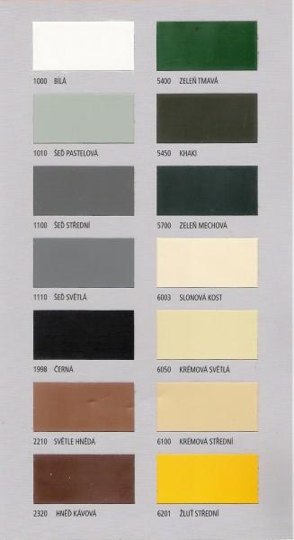 Vzorkovnice odstínů S2013